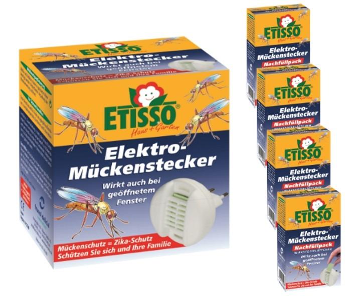 Etisso Elektro Mückenstecker Sparset 1+ 4