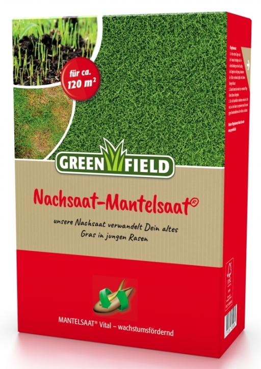 Rasen Nachsaat Mantelsaat Greenfield 2 kg für ca. 120 m²