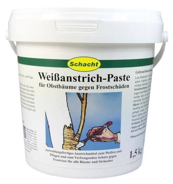 Weißanstrich Paste für Obstbäume gegen Frostschäden 1,5 kg
