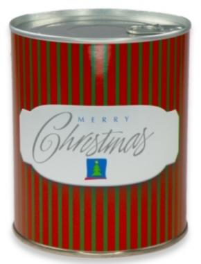 Geschenkdose - Weihnachten (Streifen)