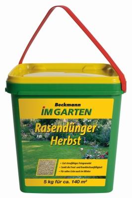 Herbst Rasen Dünger Beckmann 5 kg