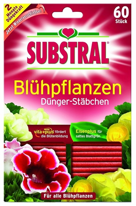 Dünger Stäbchen für Blühpflanzen Substral 60 Stück
