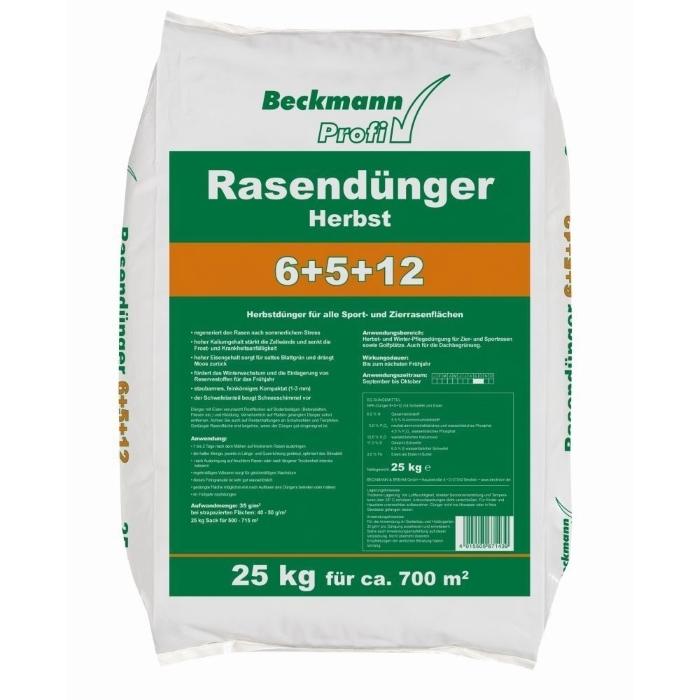 Beckmann Profi Rasendünger Herbst 6+5+12, 25 kg für ca. 700 m²