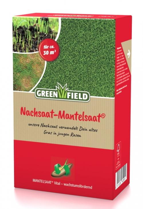 Rasen Nachsaat Mantelsaat Greenfield 500 g für ca. 30 m²