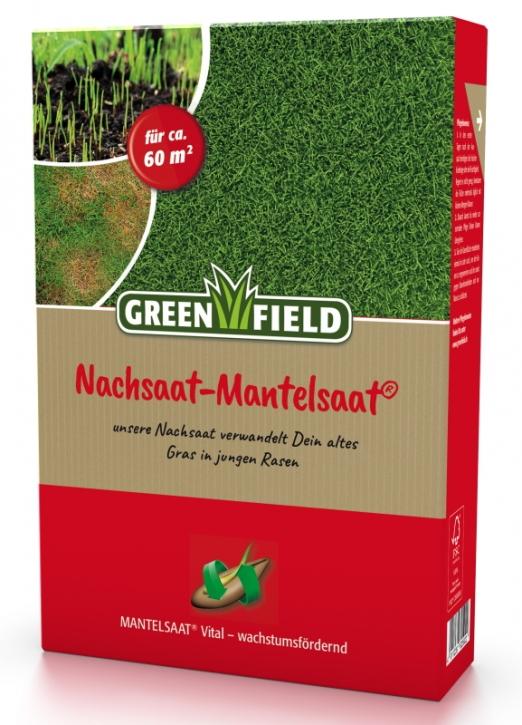 Rasen Nachsaat Mantelsaat Greenfield 1 kg für ca. 60 m²
