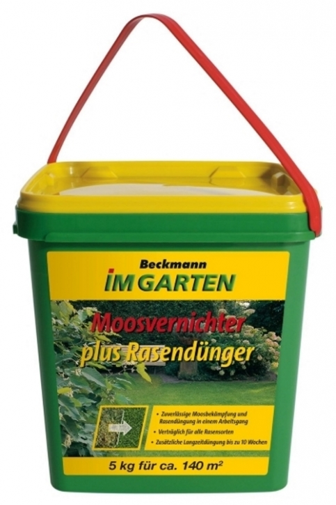 Moosvernichter + Rasendünger BIG 5 kg für ca. 140 m²