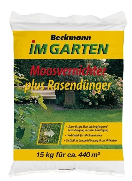 Moosvernichter + Rasendünger BIG 15 kg für ca. 440 m²
