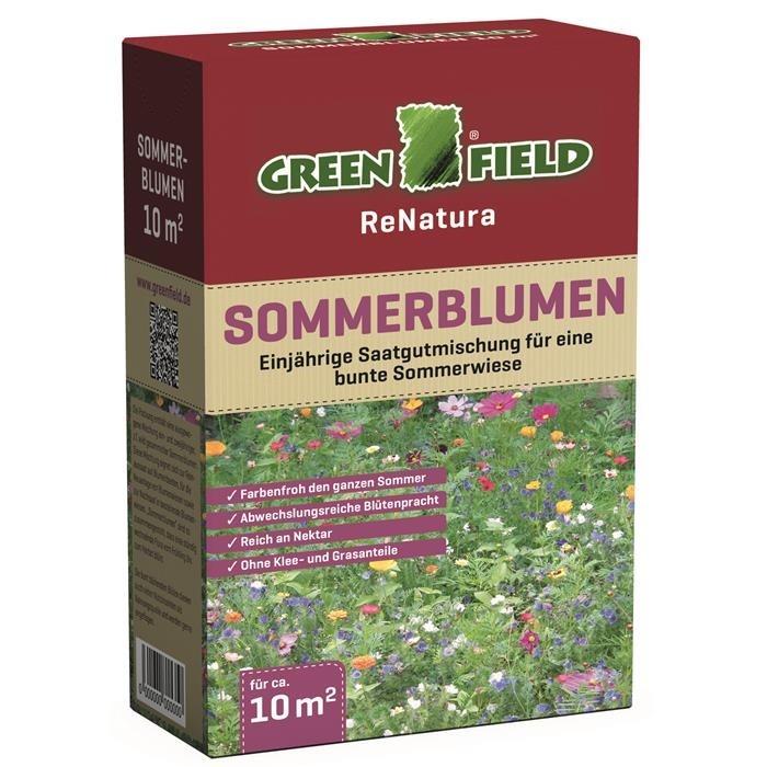 Sommerblumen Saatgutmischung für 10 m² Greenfield