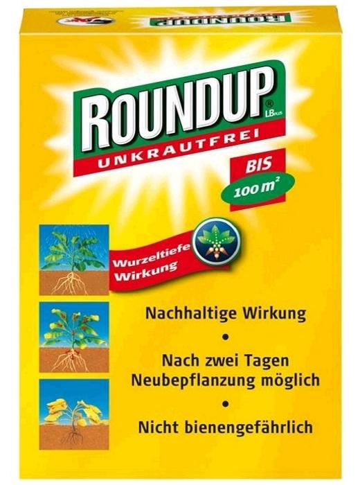 Unkrautfrei Round Up LB Plus 50 ml für ca. 100 m²