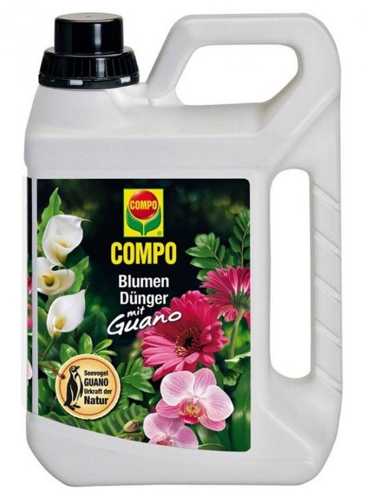 Blumen Dünger mit Guano Compo 3 Liter
