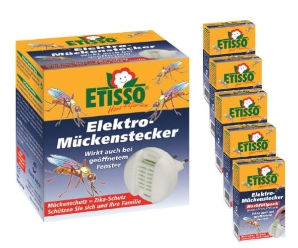 Etisso Elektro Mückenstecker Sparset 1+ 5