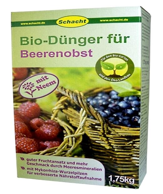 Bio Dünger für Beerenobst Organisch 1,75 kg Schacht