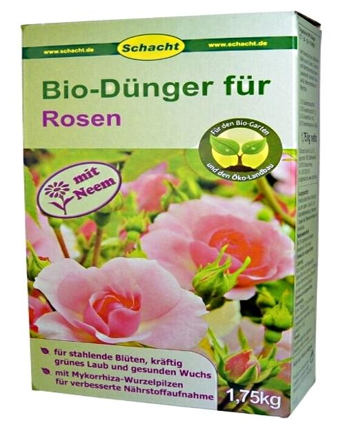 Bio Dünger für Rosen organisch 1,75 kg Schacht