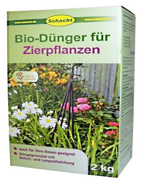 Bio Dünger für Zierpflanzen organisch 2 kg Schacht