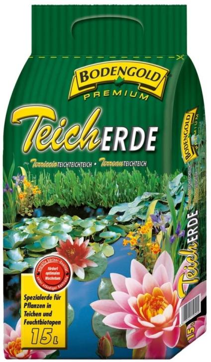 Bodengold Teich Erde Premium 15 Liter