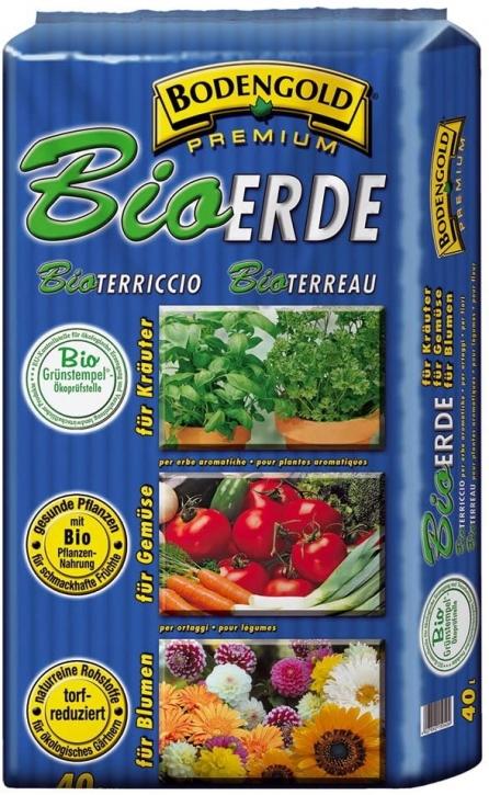 BIO-Erde 40 Liter Bodengold Premium Universal-Bioerde Blumenerde Pflanzerde