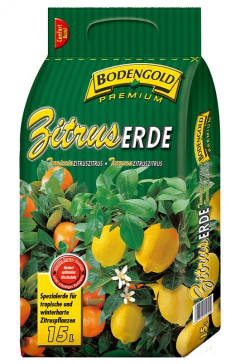 Bodengold Zitrus Erde Premium 15 Liter