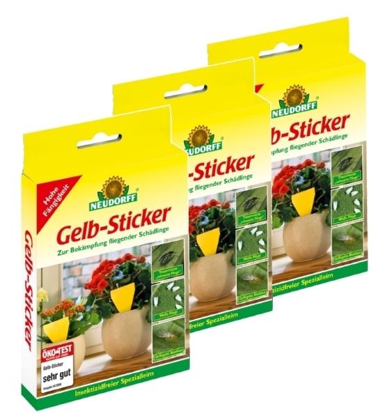 Gelb Sticker Neudorff Insektizidfrei Sparset 30 Stück