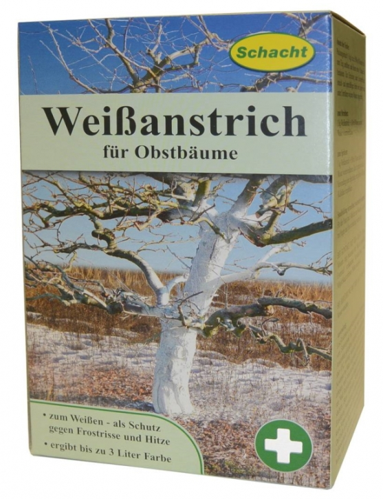 Weißanstrich für Obstbäume Frostrisse Frostschäden 1kg