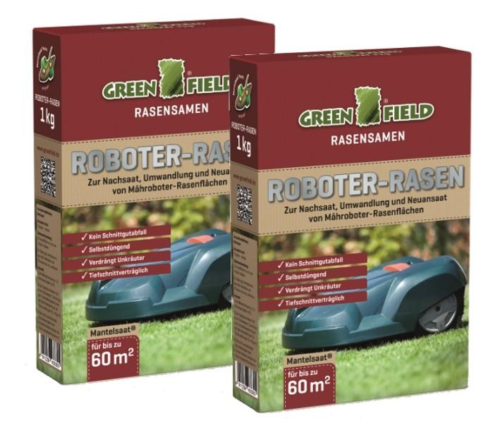 Greenfield Roboter Rasen 2 kg Sparpack für ca. 120 m²