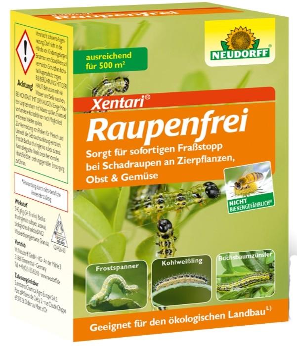Raupenfrei Xen Tari Neudorff Packung 25 g