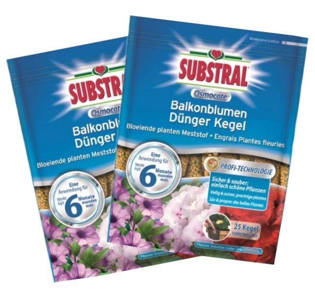 Substral Balkonblumen Langzeit Dünger Kegel 2er Sparpack 50 Stück