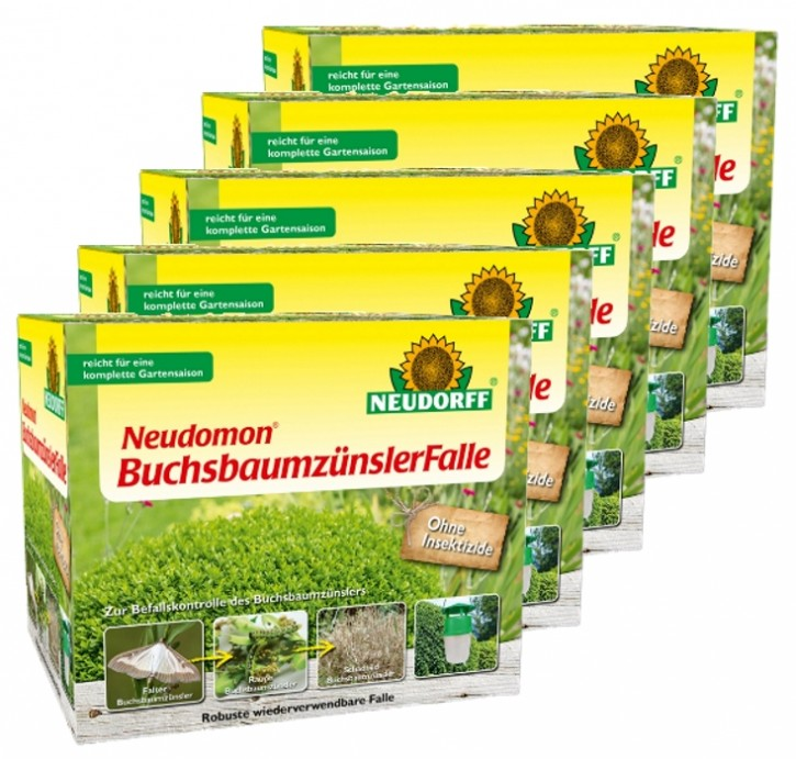 Buchsbaumzünsler Falle Neudomon 5er Sparset