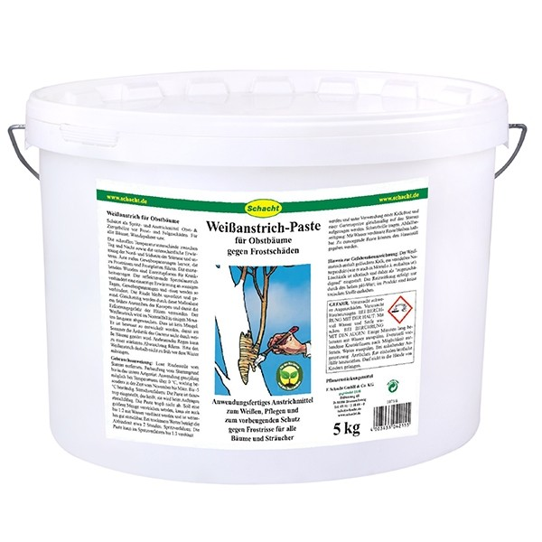 Weißanstrich Paste für Obstbäume gegen Frostschäden 5 kg