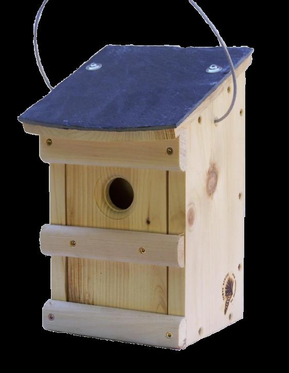 vogel nistkasten mit schieferdach schlupfloch 32 mm 2208 1. Black Bedroom Furniture Sets. Home Design Ideas