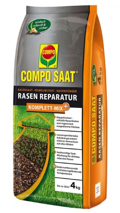 Rasen Reparatur Komplett Mix+ Compo 4 kg für ca. 20 m²