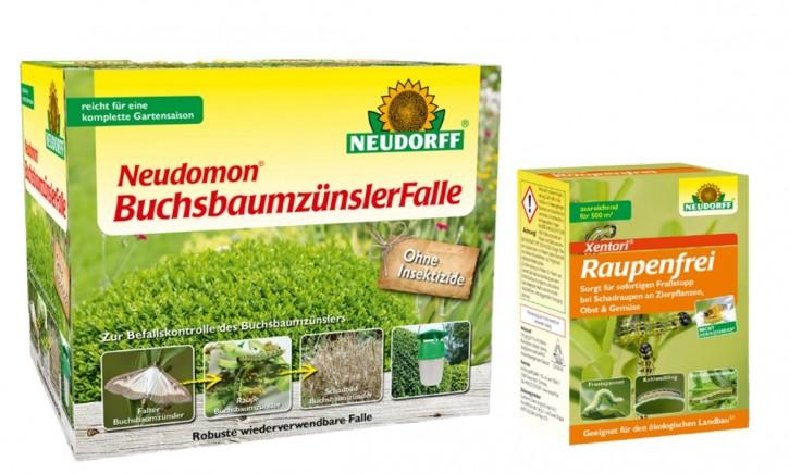 Buchsbaumzünsler Falle Neudomon + 25 g Raupenfrei Xentari