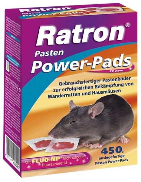 Ratron Pasten Power Pads 450 g Pastenköder Ratten/Mäusebekämpfung