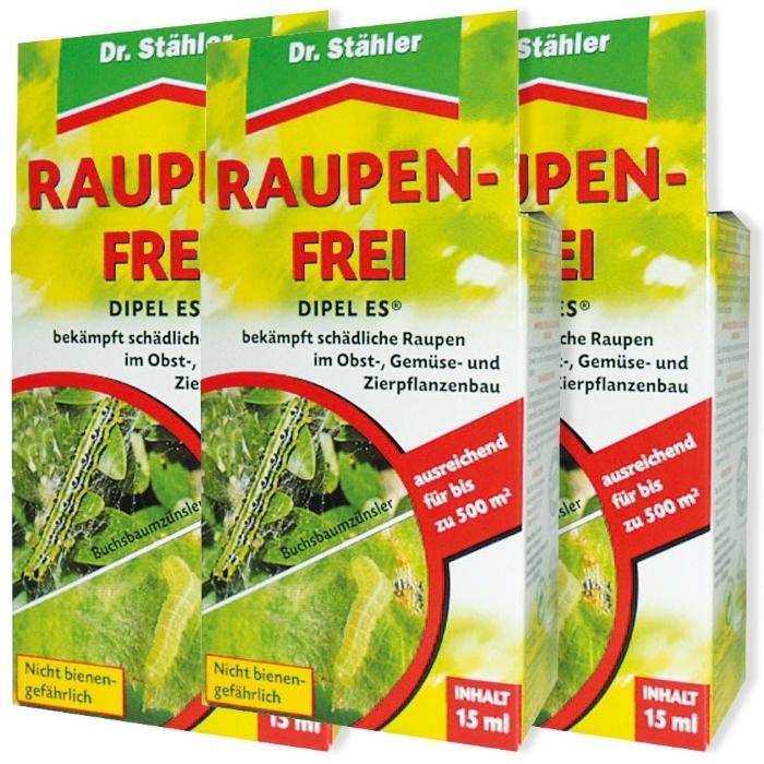 Raupenfrei Dipel ES biologisch Sparpack 3 x 15 ml