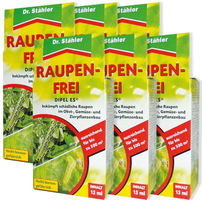 Raupenfrei Dipel ES biologisch Sparpack 6 x 15 ml