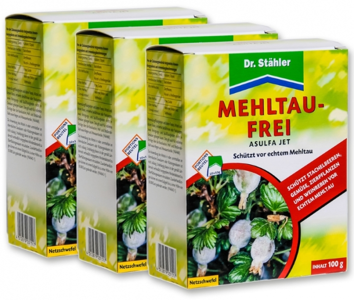 Mehltau Frei Asulfa Jet Netzschwefel Sparpack 3 x 100 g
