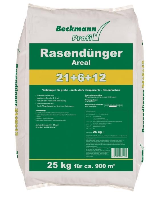 Rasen Dünger Areal Beckmann Profi 25 kg für ca. 900 m²