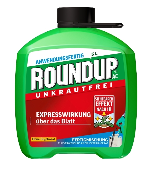Unkrautfrei RoundUp AC Unkrautbekämpfung Fertigmischung 5l