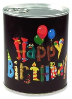 Geschenkdose - Happy Birthday (Comicschrift)