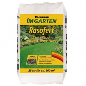 Rasen Dünger Rasofert org.min. 25 kg für 500m²