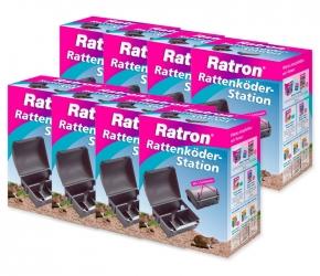Ratten Köder Station Ratron Sparset 8 Stück