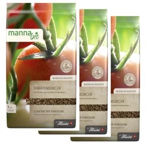 Tomaten Dünger Manna organisch-mineralisch Sparpack 3 x 1 kg