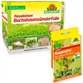 Buchsbaumzünsler Falle + 2 x 3 g Raupenfrei Xentari Set